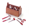 Dollhouse Miniature Tool Chest with 8 Tools