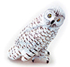 Dollhouse Miniature Snowy Owl
