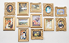 Dollhouse Miniature Framed Masterpieces, 12 pc