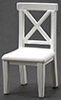 Dollhouse Miniature Cross Buck Chair, White