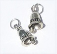 Silver Bell Ornaments, Pkg. 2