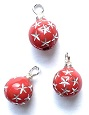 Red Starburst Ornaments, Pkg. 3
