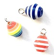 Bright Stripe Ornaments, Pkg. 3