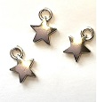 Silver Star Ornaments, Pkg. 3