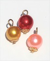 Pearl Ornaments, pkg. of 3