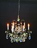 Dollhouse Miniature 6-Arm Crystal Chandelier