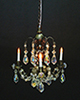 Dollhouse Miniature 3-Arm Crystal Chandelier