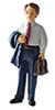 Dollhouse Miniature Mr. Sherwood Resin Doll