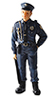 Dollhouse Miniature Officer Bill Resin Doll