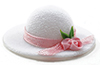 Dollhouse Miniature Ladies Hat with Feather, White
