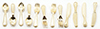 Dollhouse Miniature 12Pc Flatware, Gold