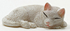 Dollhouse Miniature White Cat Sleeping