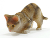 Dollhouse Miniature Tabby Cat Pouncing