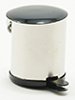 Dollhouse Miniature Stainless Steel Garbage Can