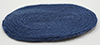 Dollhouse Miniature Navy Blue Rug, Small
