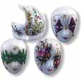 Dollhouse Miniature Reutter's Porcelain Fine Dollhouse Miniature Mardi Gras Mask Set