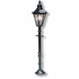 Dollhouse Miniature 12V Black Lamp Post