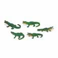 Dollhouse Miniature Micro-Mini Alligator 12Pc