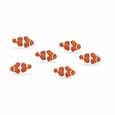 Dollhouse Miniature Micro-Mini Clown Fish 12Pc