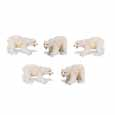 Dollhouse Miniature Micro-Mini Polar Bear 12Pc