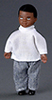 Dollhouse Miniature Boy, Black