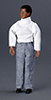 Dollhouse Miniature Father, Black