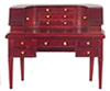 Dollhouse Miniature Carlton Desk, Mahogany