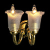 Dollhouse Miniature12V Double Wall Sconce