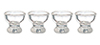 Dollhouse Miniature Small Clear Egg Cups Set, 4pc