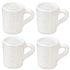 Dollhouse Miniature Small White Mugs Set, 4pc