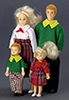 Dollhouse Miniature Modern Doll Family, 4Pc, Blonde Hair