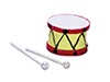 Dollhouse Miniature Drum with Sticks