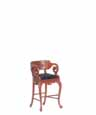 Dollhouse Miniature Red's Bar Stool, Walnut