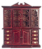 Dollhouse Miniature China Closet, Mahogany