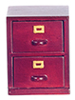 Dollhouse Miniature2 Drawer File Cabinet, Mahogany