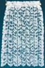 Dollhouse Miniature Curtains: Lace Panel, White