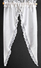 Dollhouse Miniature Curtains: Tiffany Ruffle, White