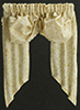 Dollhouse Miniature Valance: Double Balloon, Ecru Leaves