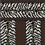Dollhouse Miniature Wallpaper: Zebra