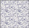 Dollhouse Miniature 1/2In Scale Wallpaper: Champagne Blue