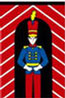 Dollhouse Miniature Rug: Toy Soldier