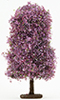 Dollhouse Miniature Bush: Burgundy-Mauve, Large