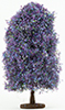 Dollhouse Miniature Bush: Purple-Blue, Large