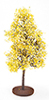Dollhouse Miniature Bush: Yellow-White, Large