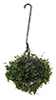 Dollhouse Miniature Hanging Basket: Variegated Green, Large