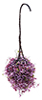 Dollhouse Miniature Hanging Basket: Burgundy-Mauve, Small