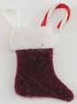 Dollhouse Miniature Christmas Stocking, Small