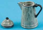 Dollhouse Miniature Coffee Pot, Grey Graniteware