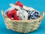 Dollhouse Miniature Laundry Basket with Clothes & Detergent