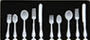 Dollhouse Miniature White Flatware, 10 Pieces